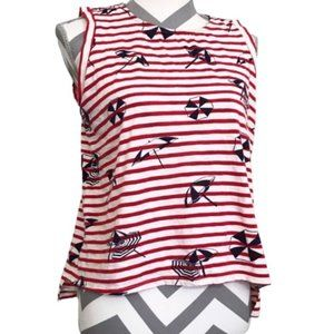 High Low Relaxed Striped Tank Summer Theme